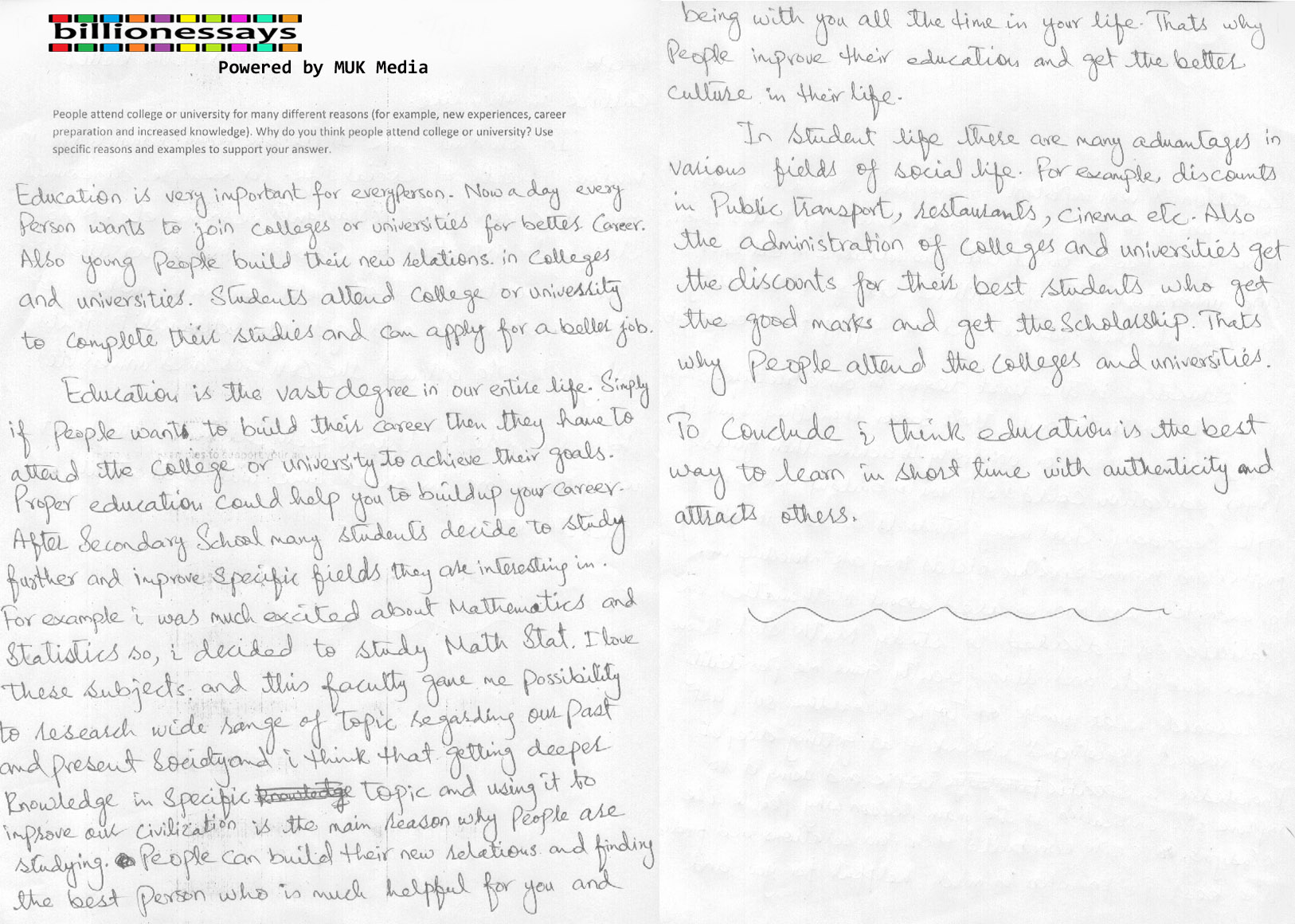 essay reasons for attending college Essay about why i've decided to go to college  make my family proud, and make myself proud i am attending college for several different reasons one reason is to further my education i hate feeling like i don't know something, i like being the person everyone comes to for information  i am attending college for several different.